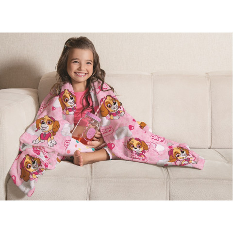 Manta Fleece Patrulha Canina rosa- Lepper