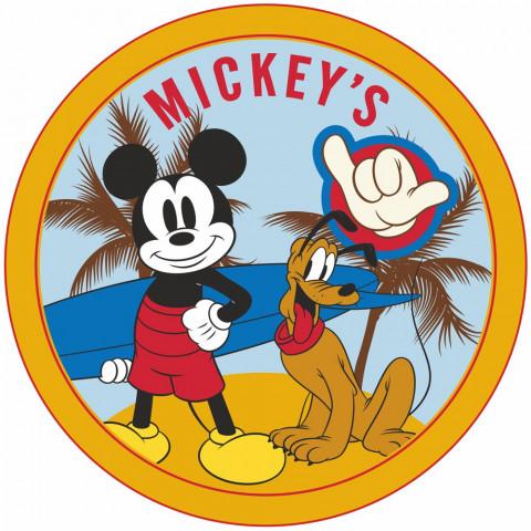 Toalha de Praia Redonda Aveludada Estampada Mickey-Lepper