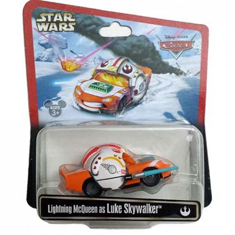 Disney Cars Lightning McQueen As Luke Skywalker Star Wars 1:55 Mattel Case SW
