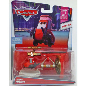 Disney Cars Terry Gong Tokyo Party Deluxe 1:55 Mattel