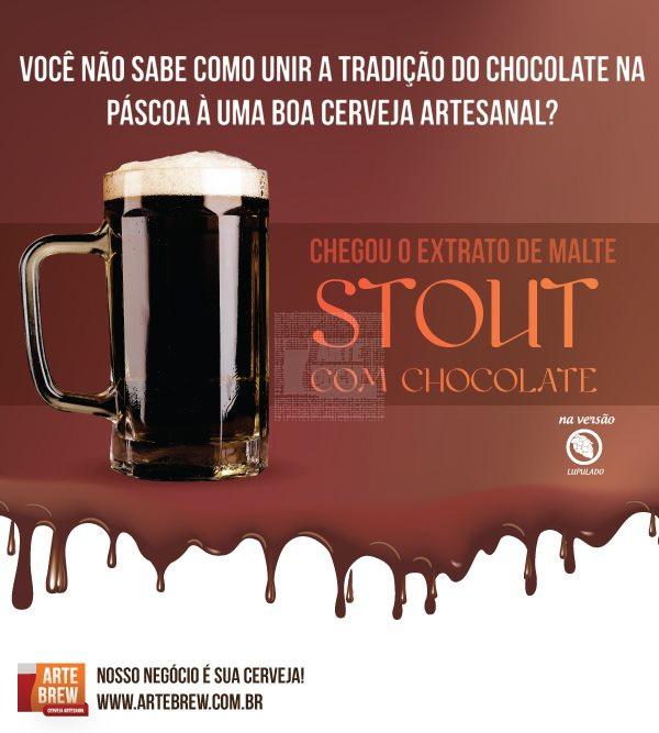 Stout com Chocolate - Extrato de Malte ArteBrew - JÁ LUPULADO - 3kg