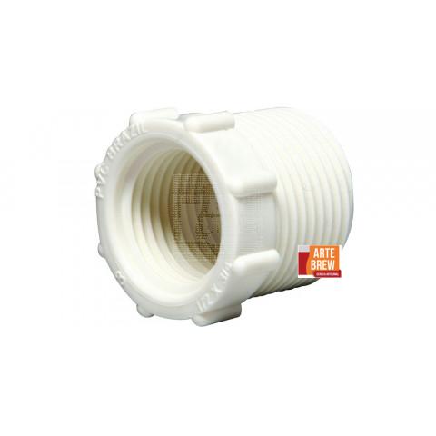 Adaptador de fixação da torneira do fermentador maturador 1/2pol 3/4pol