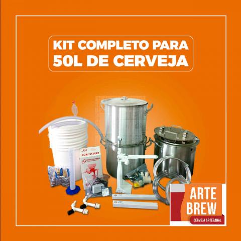 Kit Premium em Alumínio para 50 litros de cerveja - 220v - GRÁTIS UM CURSO BÁSICO