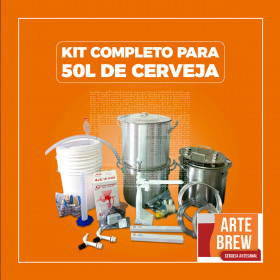 Kit Premium em Alumínio para 50 litros de cerveja - 110v - GRÁTIS UM CURSO BÁSICO