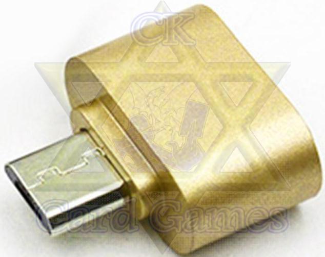 Adaptador Celular USB-Micro USB Dourada