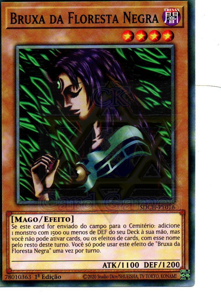 Bruxa da Floresta Negra / Witch of the Black Forest - YGO SDCH-PT016 Common 1Ed
