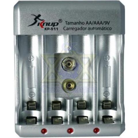 Carregador de Pilhas - Knup KP-511
