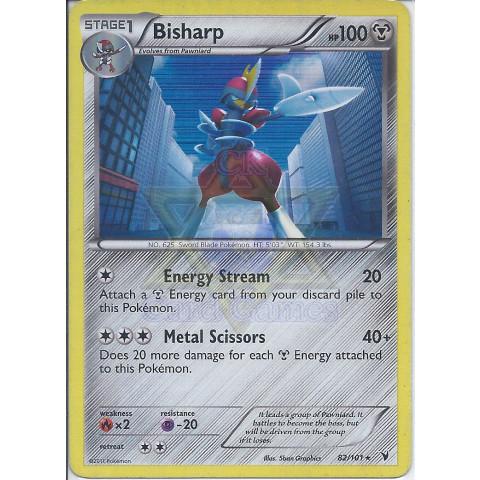 Bisharp (82/101) - EN PKM 082/101 Rare Holo 90%