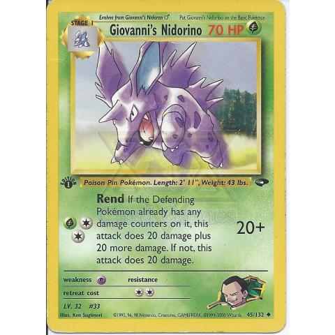 Giovanni's Nidorino (45/132) / Nidorino do Giovanni (45/132) - EN PKM 045/132 Uncommon 1Ed 90%