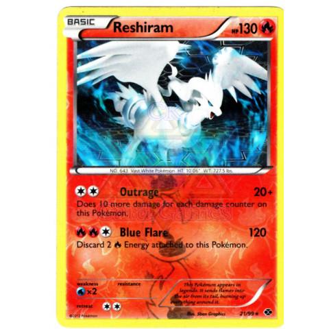 Reshiram (21/99) - EN PKM 021/099 Rare Reverse Holo