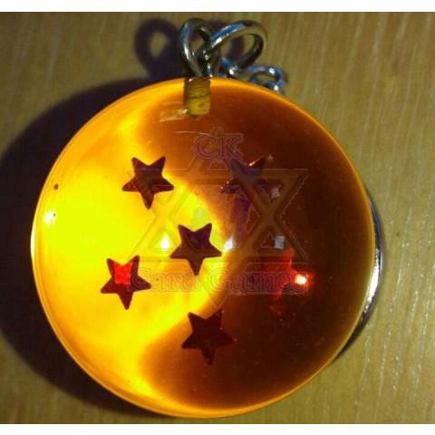 Esfera do Dragão de 6 Estrelas - Chaveiro