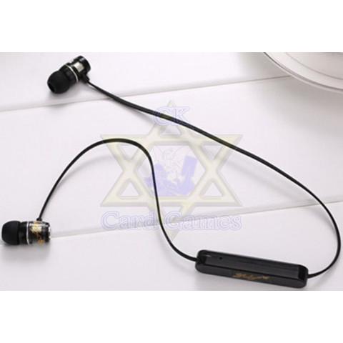 Fones de Ouvido Bluetooth Preta - Yulzf