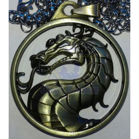 Logo Mortal Kombat - Cobre - Pingente