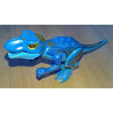 T-rex Azul - Jurassic Park - Miniatura - Blocos