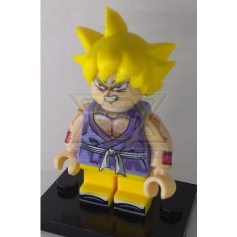 Goku-GT Criança SSJ? - Dragon Ball - Miniatura - Blocos