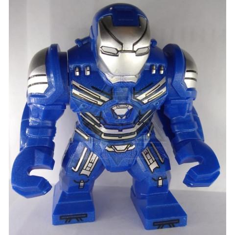 Homem de ferro Caça-Hulk Azul - Marvel - Miniatura - Blocos