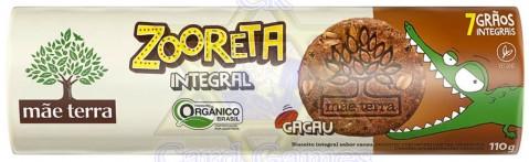 Biscoito Integral Orgânico Mãe Terra Zooreta Cacau 110g