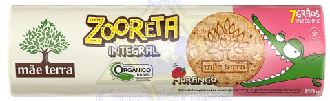 Biscoito Integral Orgânico Mãe Terra Zooreta Morango 110g