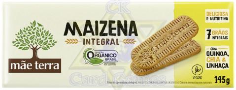 Biscoito Integral Orgânico Mãe Terra Tribos Maizena 145g