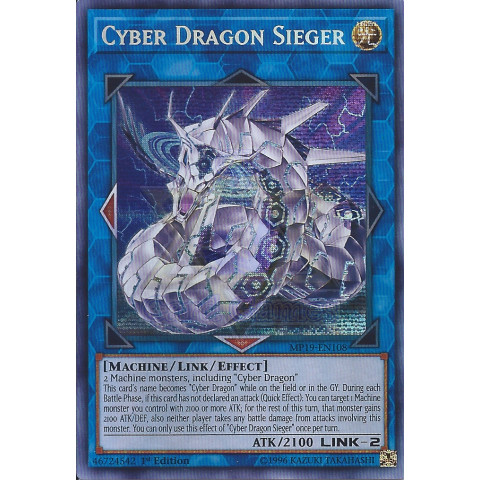 Cyber Dragon Sieger / Dragão Cibernético Sieger - YGO MP19-EN108 Secret R 1Ed
