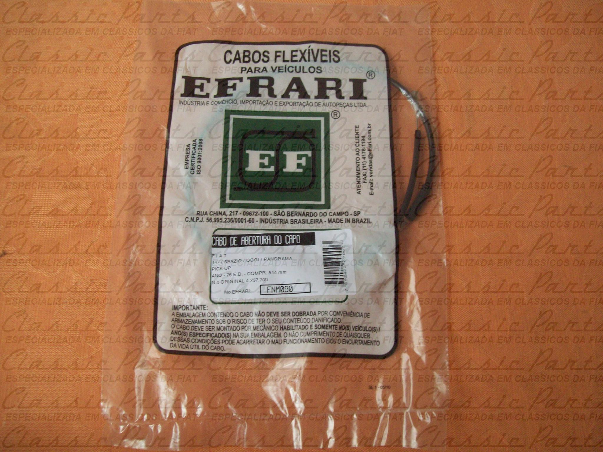 CABO ABERTURA CAPO EFRARI FAMILIA FIAT 147