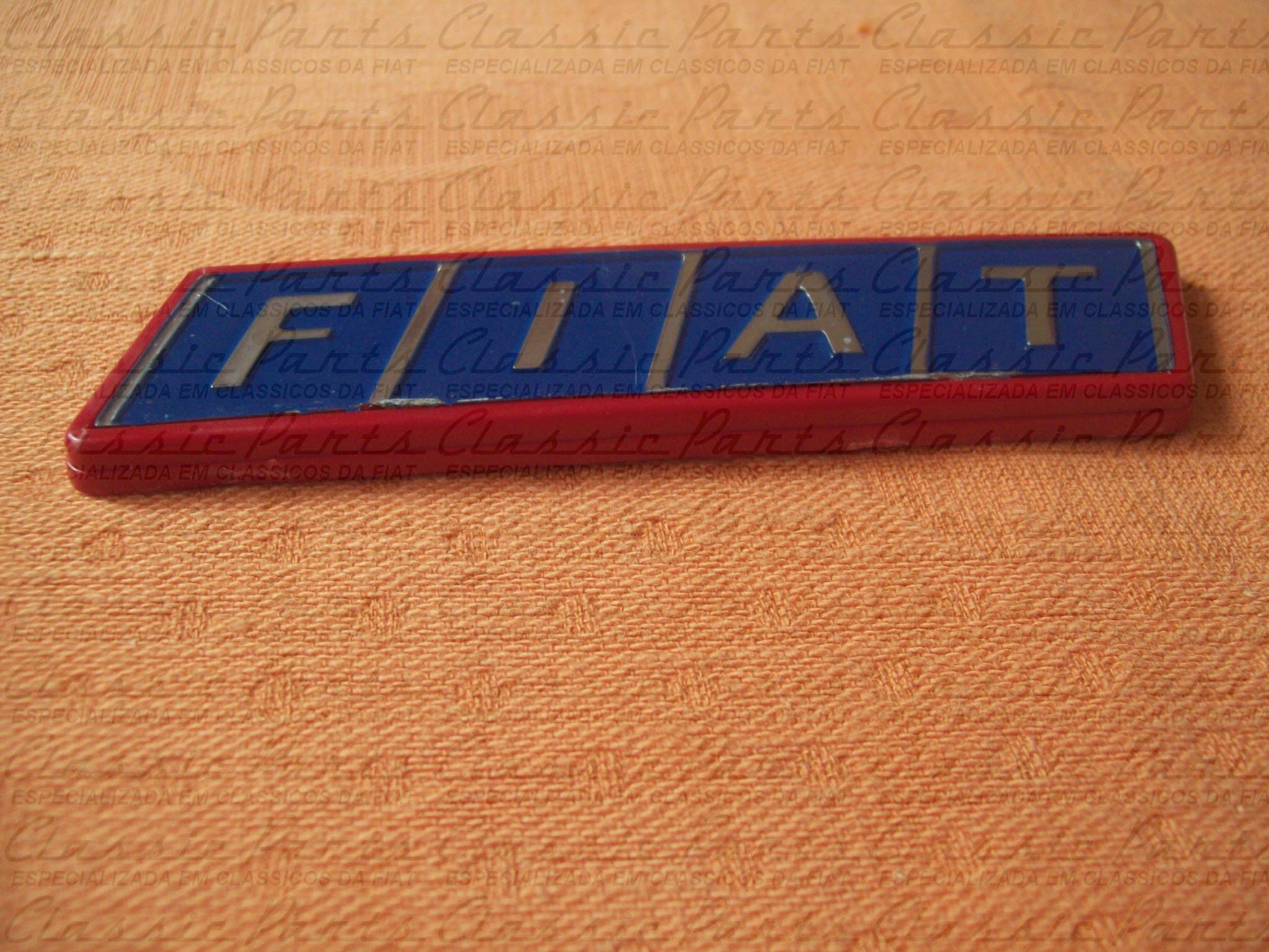 "EMBLEMA P MALA MOLD VERMELHA ""FIAT"" FAMILIA FIAT 83/91"