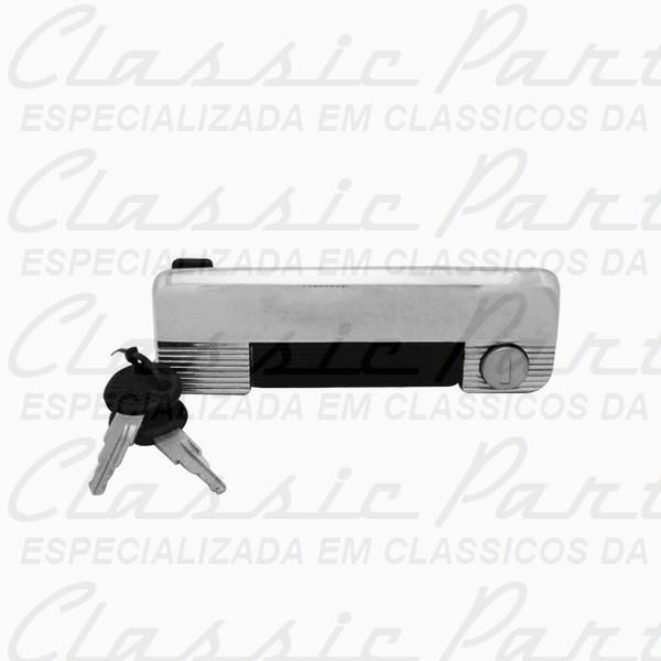MACANETA EXTERNA CROMADA GATILHO PRETO C/ CHAVES LE FAMILIA FIAT 147