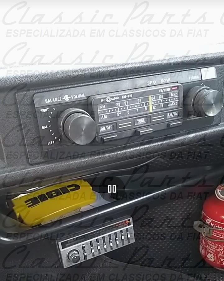 (4439275-R) TAMPA MASCARA RADIO RECORTADO FAMILIA FIAT 147