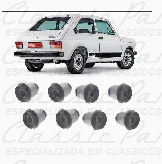 (4251331-P) JOGO (8 PEÇAS) BUCHA BALANCA TASEIRA FIAT 147 76/...