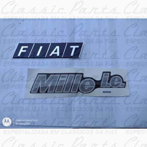 50006164 - PAR EMBLEMA MALA FIAT UNO MILLE IE 96