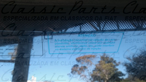 (7524647) ETIQUETA ADVERTENCIA COMPONENTES ELETRONICOS FAMILIA FIAT UNO / TEMPRA / TIPO / MAREA