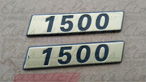 (7516843) PAR EMBLEMA LATERAL 1500 FIORINO LX ORIGINAL