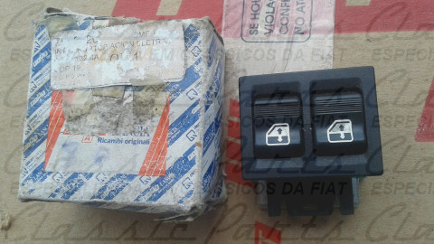 CONJUNTO INTERRUPTOR VIDRO ELETRICO LE (DUPLO) FIAT UNO 1.5R 87/89 ORIGINAL