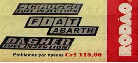 EMBLEMA DE EPOCA FIAT 147 ABARTH