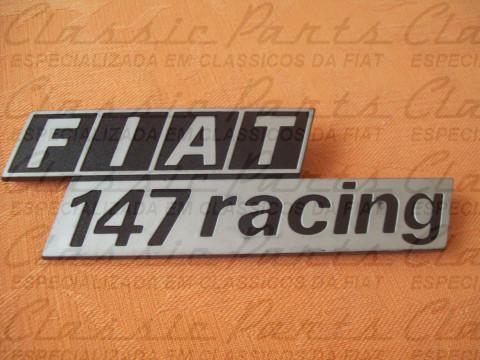 EMBLEMA FIAT 147 RACING ORIGINAL