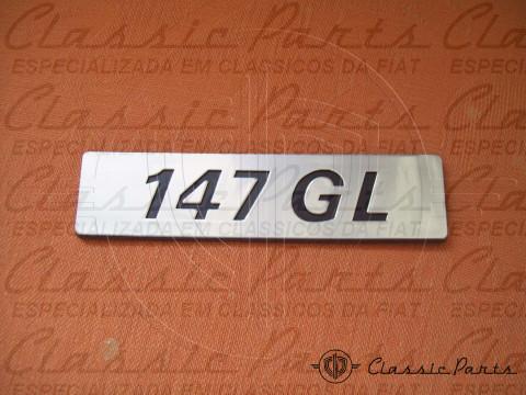 "EMBLEMA LATERAL FIAT ""147 GL"""