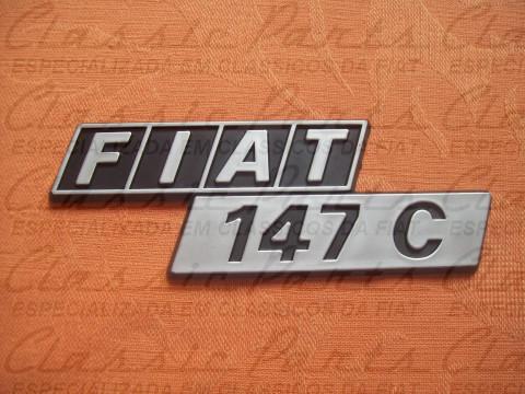 """EMBLEMA LINHA 82 """"FIAT 147 C"""""""