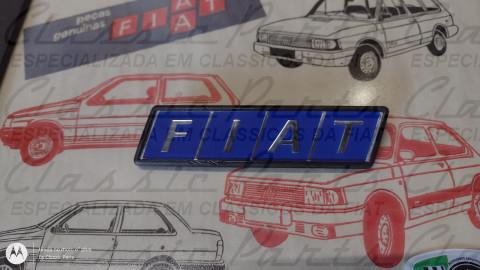 """(5956190) EMBLEMA PORTA MALA MOLDURA PRETA """"FIAT"""" FAMILIA FIAT 83/90 ORIGINAL*"""