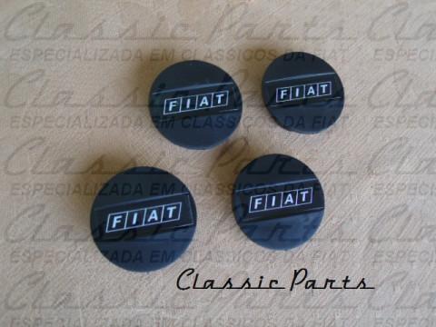 JOGO (4 PÇS) CALOTA ADESIVO FIAT 147 GL, CL, GLS, TOP, RALLYE, RACING
