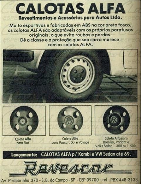 JOGO (4 PÇS) CALOTA PLASTICA ESPORTIVA FAMILIA FIAT 147