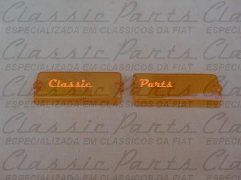 """PAR LENTE LANTERNA DIANTEIRA """"AMBAR"""" FAMILIA FIAT  147 76/..."""