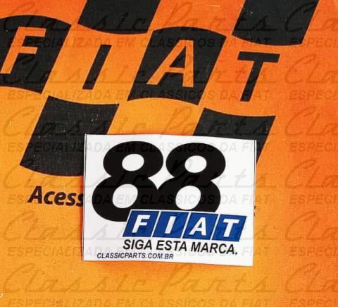 EMBLEMA ADESIVO INTERNO FIAT - LINHA 88 - OLD SCHOOL