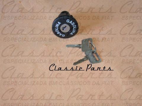 "TAMPA TANQUE COMBUSTIVEL FAMILIA FIAT 147 83/... UNO .../90 ""GASOLINA"" ORIGINAL"