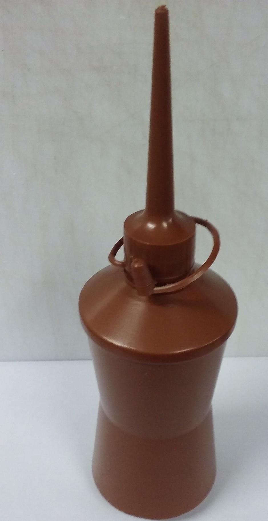 Frasco Plastico Virgem, Tipo Almotolia, cor Marrom e ou Ambar, 300ml c/5un