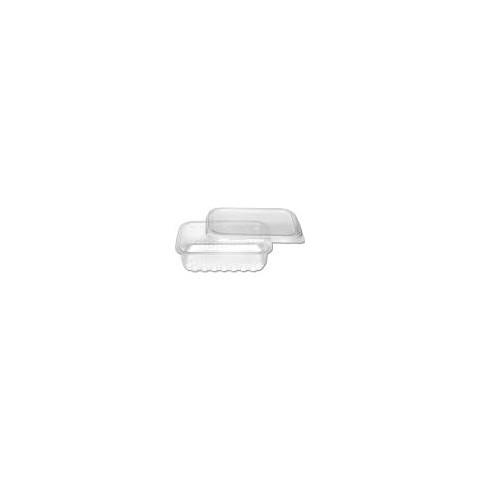 Marmita Descartável 250ml Retangular,Transparente, Microondas e Freezer c/12un