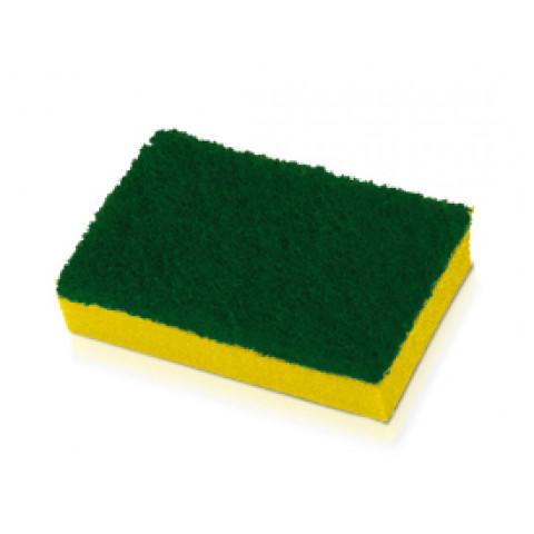 Esponja Verde Amarela Scotch Brite 3M com 10unidades - pt