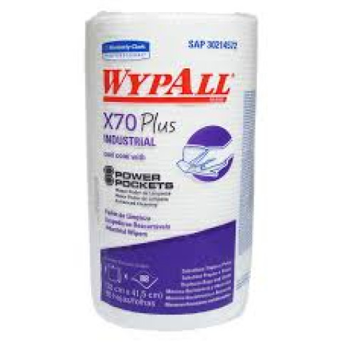 Kimberly Clark  - Wiper Wypall - Pano de Limpeza X70 Branco - (c/ 88 unidades) c/02rolos