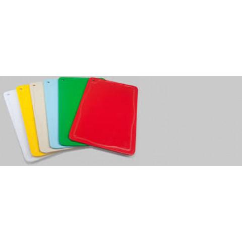 Kit com 6 Tábuas Profissional Coloridas Para Cortes - Restaurantes - Jogo 50x30x1,0cm