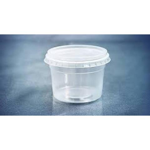Pote Redondo com tampa 250ml Freezer e Microondas Bolo no Pote Sobremesas Doces Porçao Unica c/24un