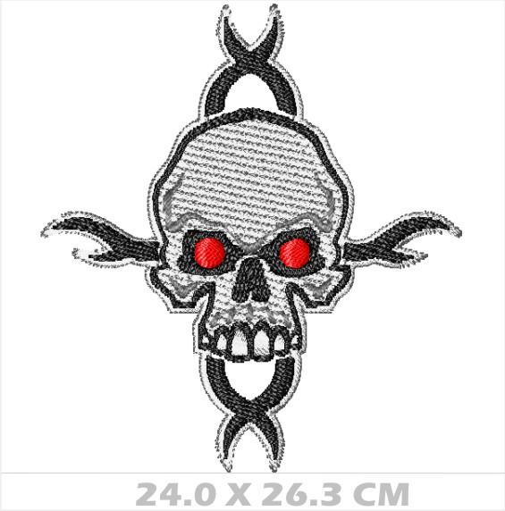 WA26-00042- BORDADO CAVEIRA TRIBAL